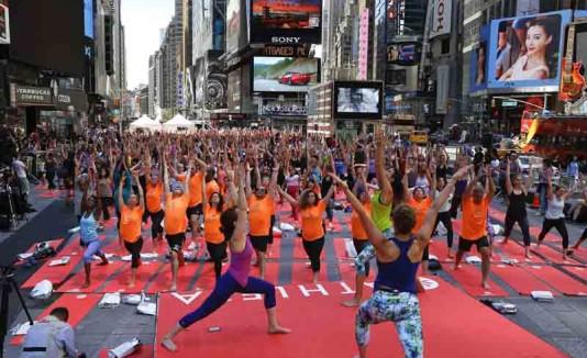 Día Internacional del Yoga en Nueva York