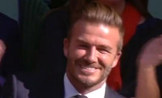 David Beckham en Wimbledon