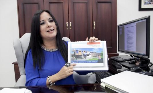 La vicealcaldesa fajardeña, Glenis Otero, dio detalles de los proyectos.