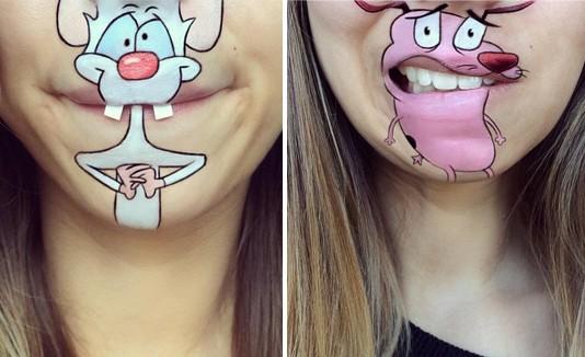 Los personajes Pinky y Courage hechos por Laura Jenkinson