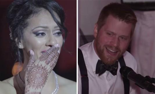 Canadiense canta hindi en boda