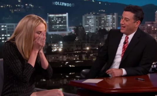 Charlize Theron y Jimmy Kimmel