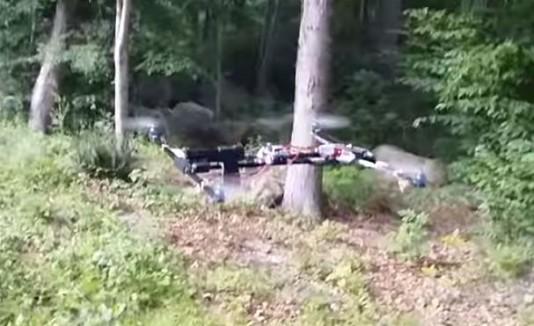 Dron disparando con una pistola