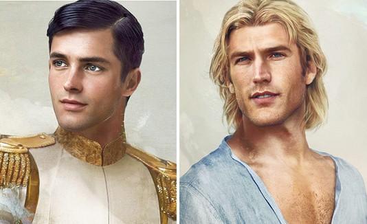 """Prince Charming de """"Cinderella"""" y John Smith de """"Pocahontas""""."""