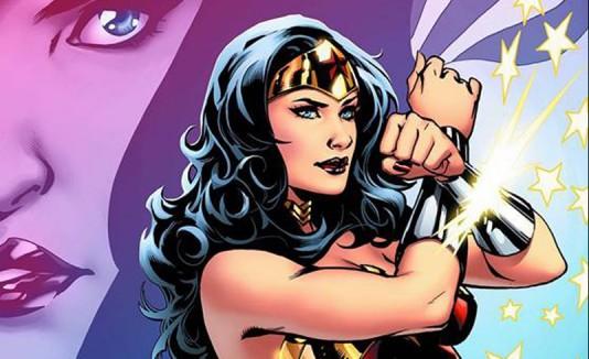 Wonder Woman en un cómic.