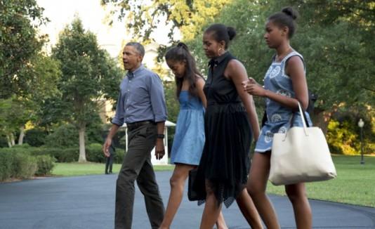 Barak Obama y familia
