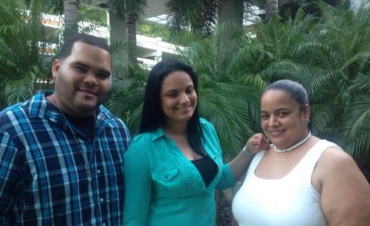 Yesenia González, Yesimar García y José Heriberto Figueroa