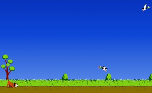 El videojuego Duck Hunt.