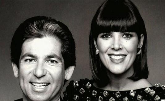 Robert Kardashian y Kris Jenner.
