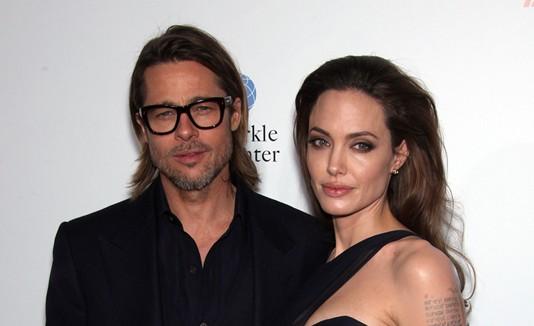 Brad Pitt y Angelina Jolie.