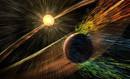 Sol despojó atmósfera de Marte