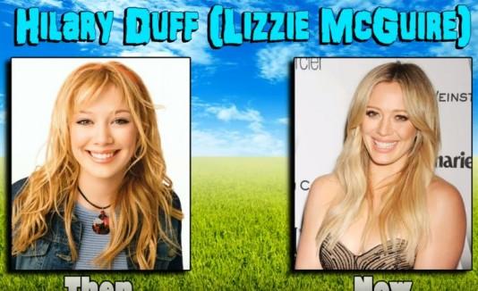"""Antes y después de Hilary Duff en """"Lizzie McGuire"""""""