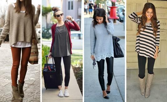 Mujeres con leggings.