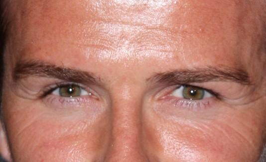 Ojos de David Beckham.
