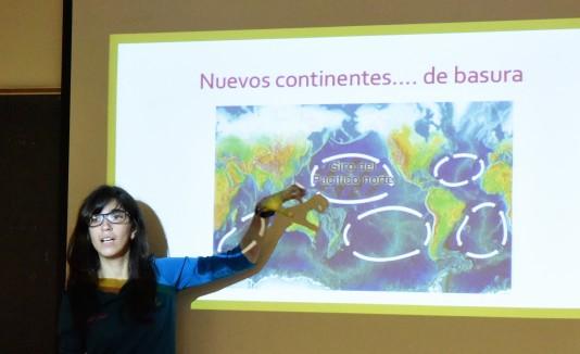 Natalia Pagán,  directora de la Asociación Basura Cero en Puerto Rico, abogó por el reciclaje.