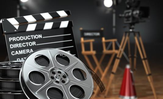 Utilería para producir una película de cine.