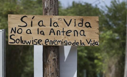 Vecinos de Sabana Grande están dispuestos a la desobediencia civil para impedir el establecimiento de antenas de telecomunicaciones.