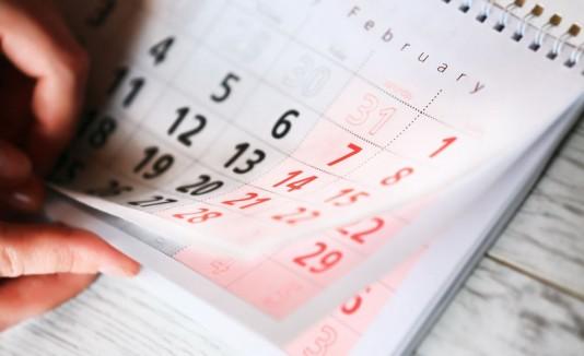 Amor, calendario