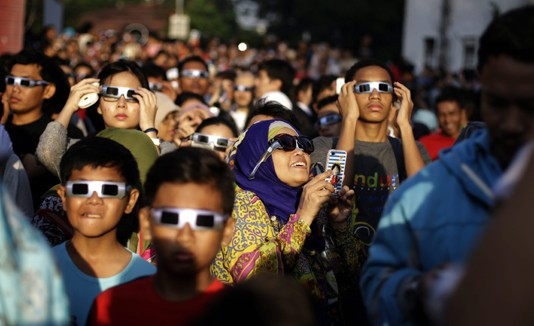 Eclipse en Indonesia