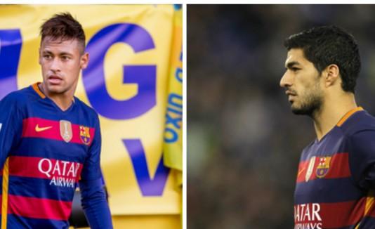 Neymar y Luis Suárez
