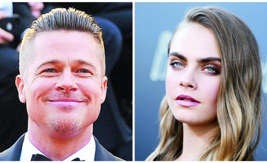 Brad Pitt y Cara Delevingne