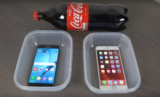 Celulares, Coca-Cola, Smartphone, Prueba, Experimento