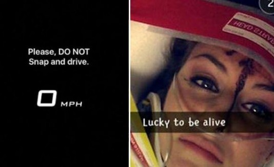 Joven causa grave accidente mientras subía selfie a Snapchat