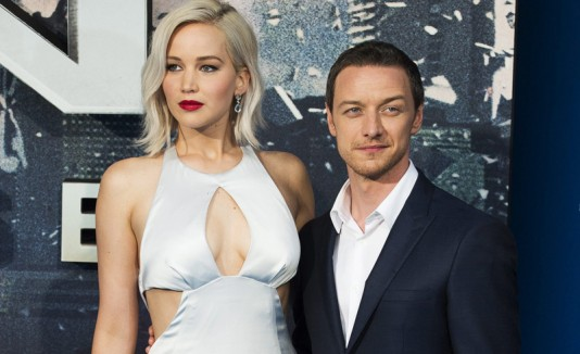 Jennifer Lawrence y James McAvoy