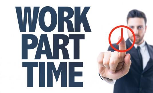 trabajo a tiempo parcial o part-time