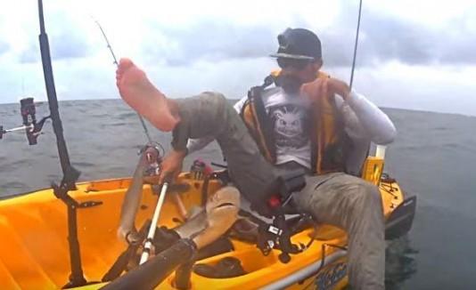 Pescador tiburon bebe
