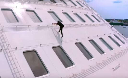 Parkour en el crucero mas grande del mundo