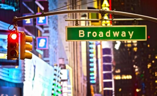 Letrero de la avenida broadway
