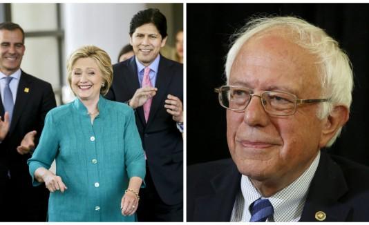 Bernie Sanders y Hilalry Clinton