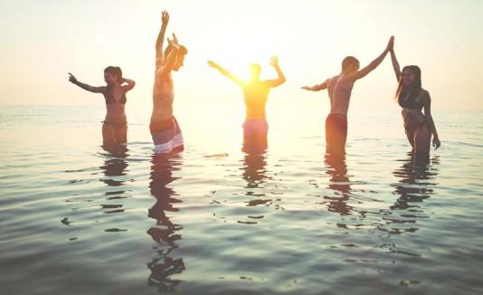 Party en la playa.