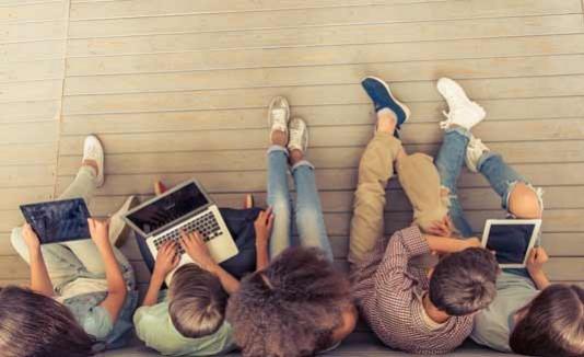 Gadgets, Estudiantes, Computadoras, Tecnología