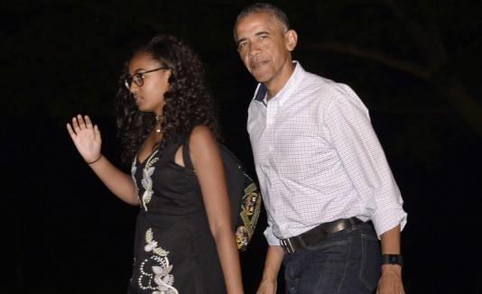 Barack Obama y Sasha