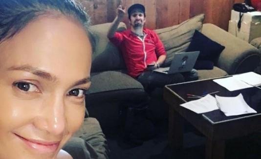 Jennifer Lopez y Lin Manuel Miranda