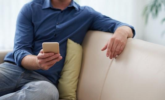 Smartphone, Sofá, Descanso
