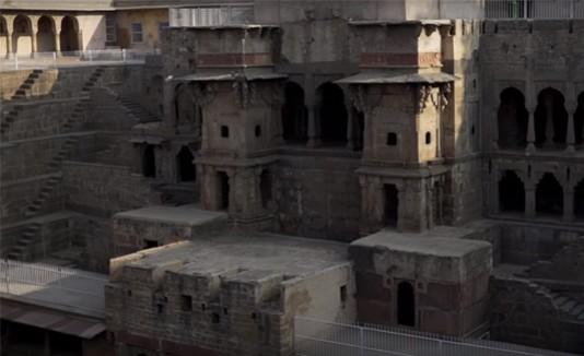Templo, Harshat Mata, India, Escalones