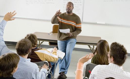 Profesor, estudiantes, Universidad