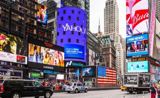 Letrero de Yahoo