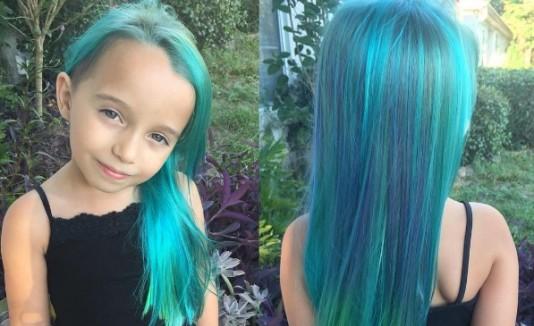Niña pelo arcoiris