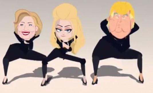 Madonna, Hillary Clinton y Donald Trump