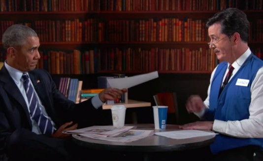 Obama y Stephen Colbert