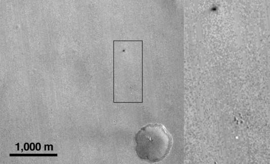Sonda se estrella en Marte