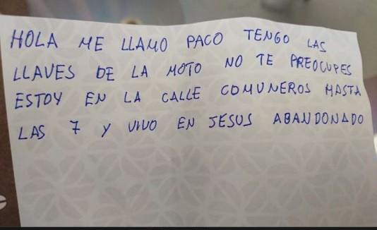 Nota de Paco, deambulante