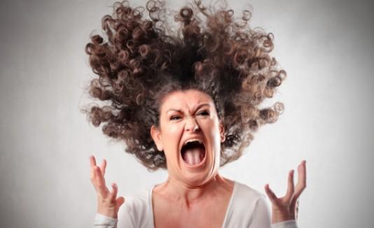Mujer, molesta, angry, furiosa