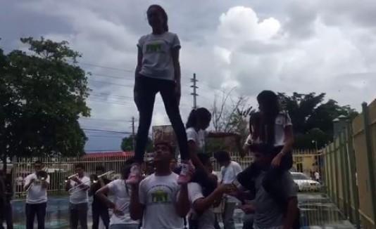 Mannequin Challenge en vocacionald de Caguas