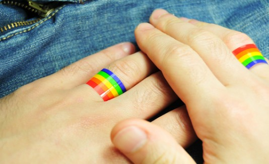Gay, anillos, matrimonio, boda