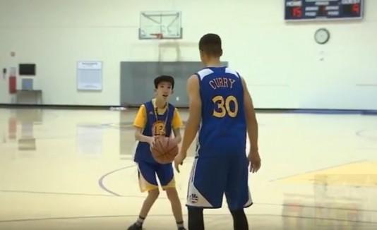 La historia de superación de un niño y Stephen Curry